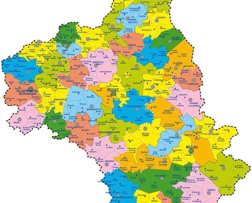 Cantons de l'Aveyron