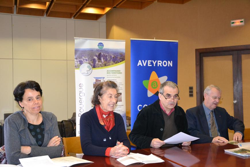 Les responsables du CPIE et Jean-François Albespy lors de la conférence de presse.