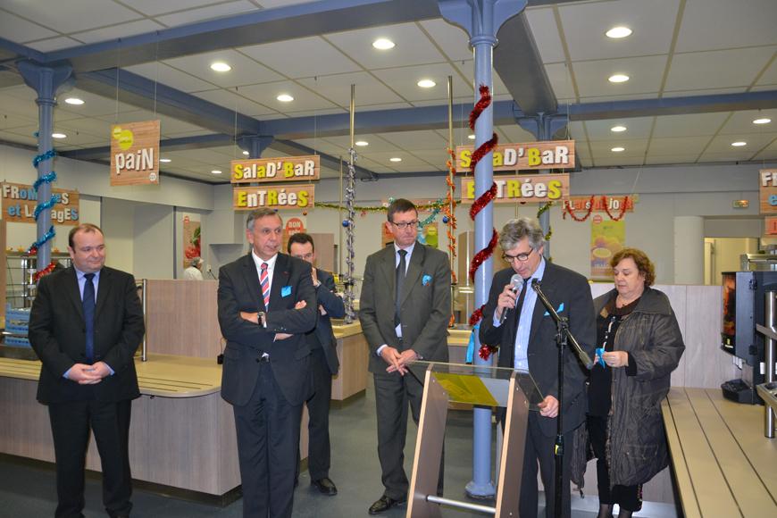 Inauguration du self du collège Saint-Joseph à Rodez